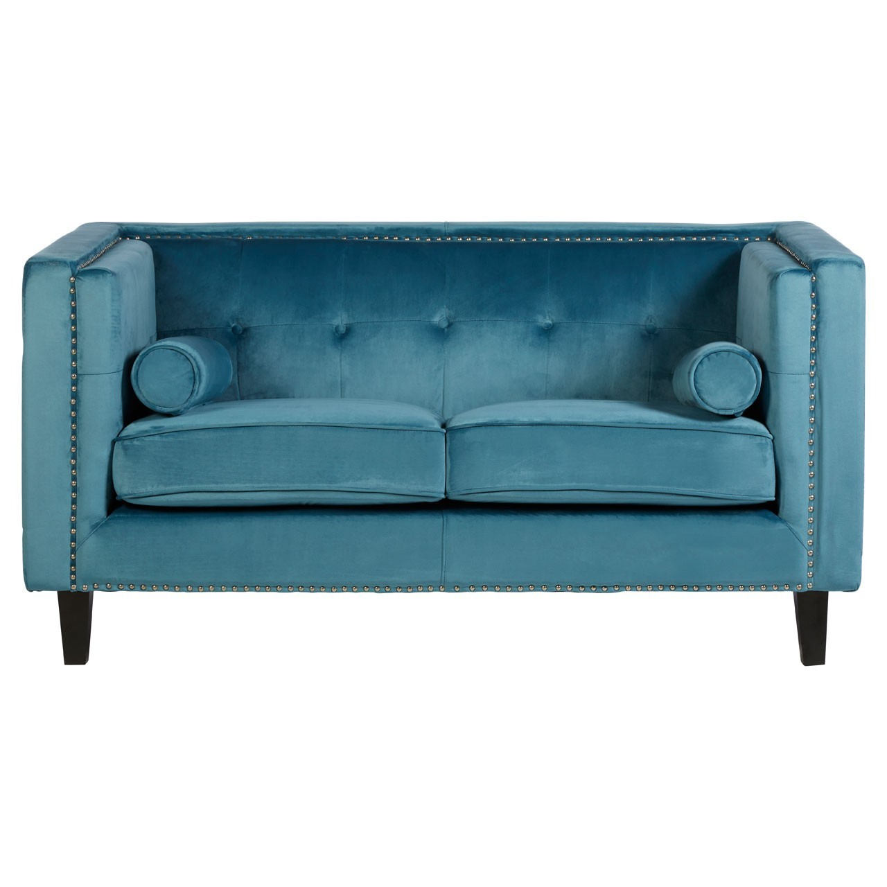 Felisa 2 Seat Blue Velvet Sofa