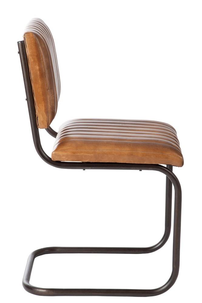 Excellent Chair Modern Leather Metal Cognac Xx Lamtechconsult Wood Chair Design Ideas Lamtechconsultcom