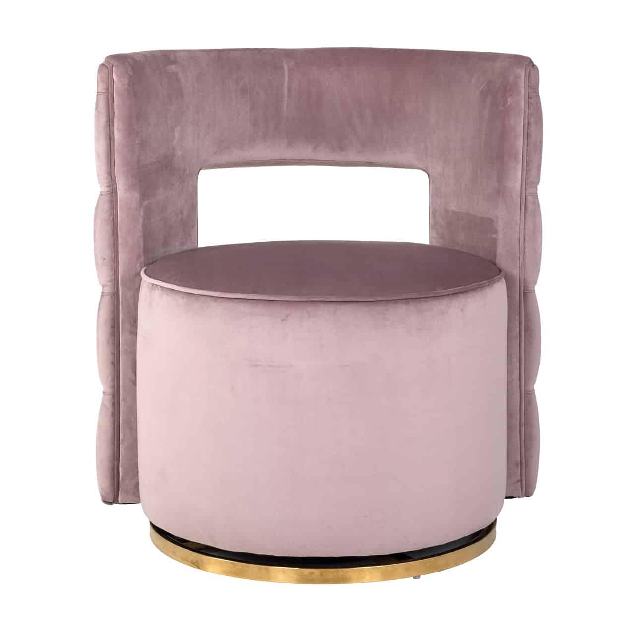 Pleasant Swivel Chair Jamie Pink Velvet Gold Machost Co Dining Chair Design Ideas Machostcouk