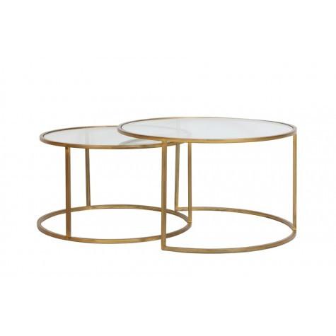 Coffee Table Durate Glass Gold Mylestone Interiors Ltd