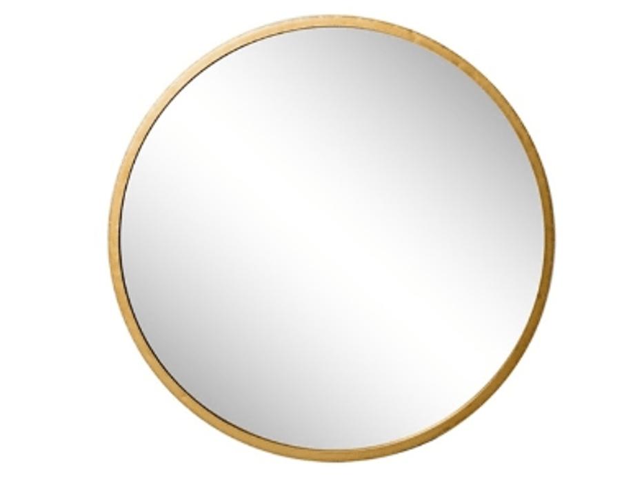 Mirror Amaro Round Gold 90cm Mylestone Interiors Ltd