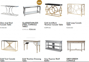 Our Console tables